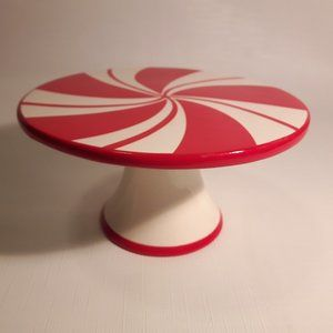 Adorable Peppermint Swirl Pedestal Display Stand